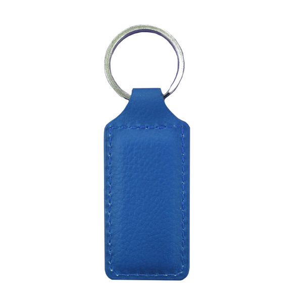 Engravables - LEATHER - Keyring - RECTANGLE - Navy