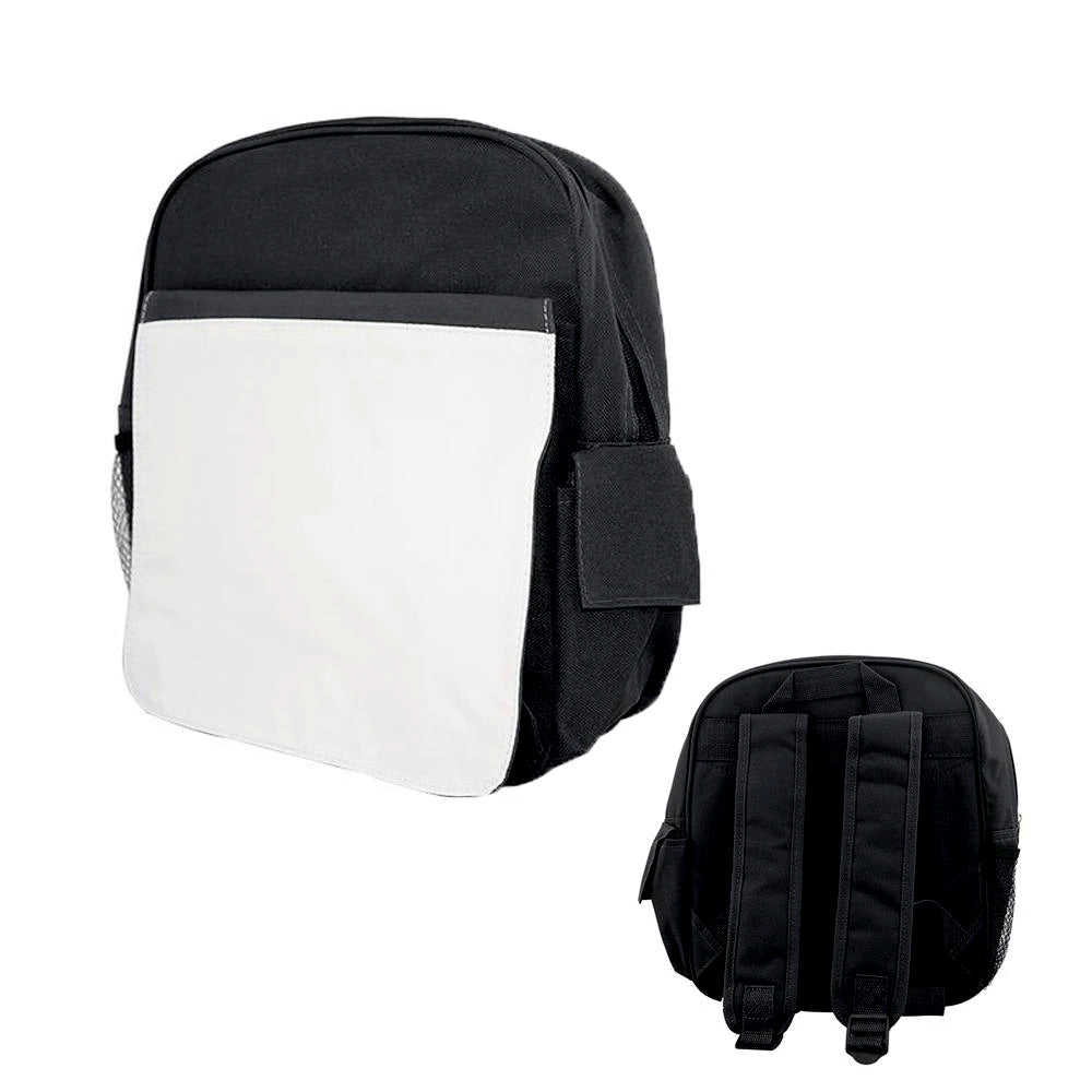 Bags - Backpacks - Large School Bag with Panel - Black