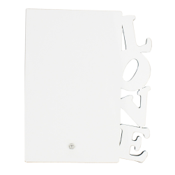 "Photo Panel - MDF 'Love' Photo Frame with Stand - 5"" x 7"