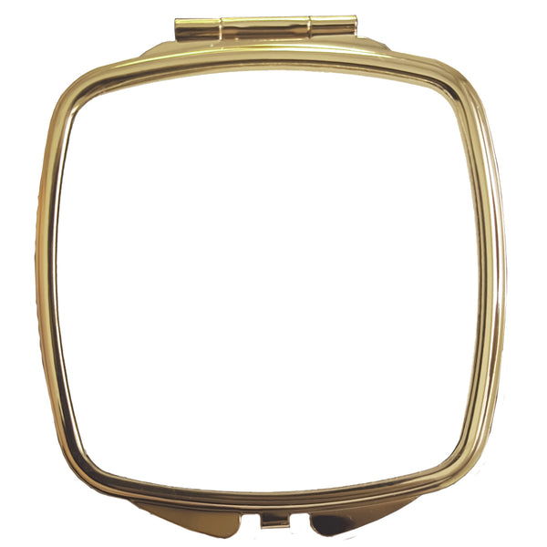 10 x Compact Mirror - Deluxe CLASSIC GOLD - Curved Square
