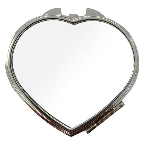 10 x Compact Mirror - Deluxe Classic Gold - Heart