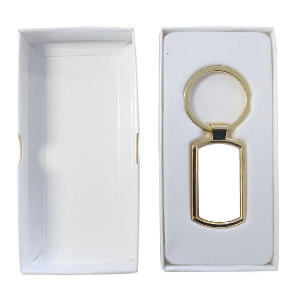 Keyring - 10 x GOLD Sublimation Metal Keyring - Oblong