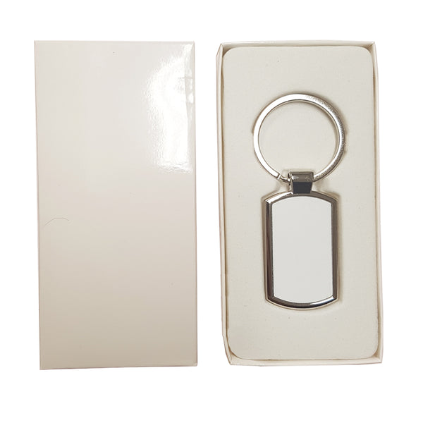 Keyring - 10 x Sublimation Metal Keyring - Oblong
