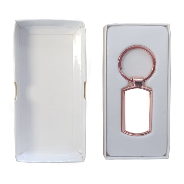 Keyring - 10 x ROSE GOLD Sublimation Metal Keyring - Oblong
