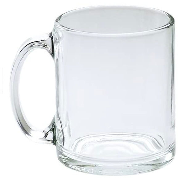 Blank Clear Glass Sublimation Mugs - Singles