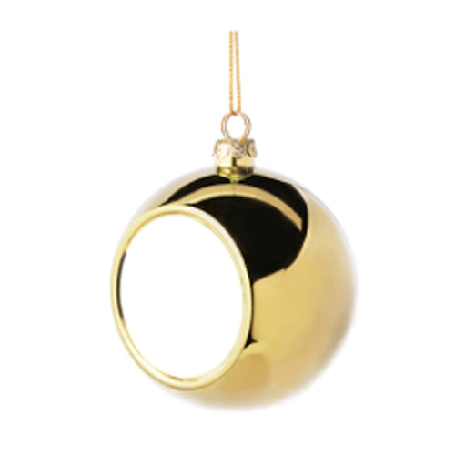 Ornaments - Christmas Bauble with Printable Insert - Mirror Gold Finish