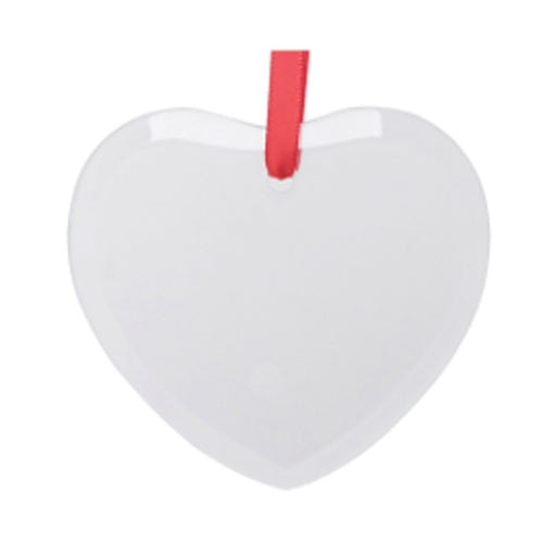 Ornaments - GLASS - 12 x Hanging Ornament - Heart