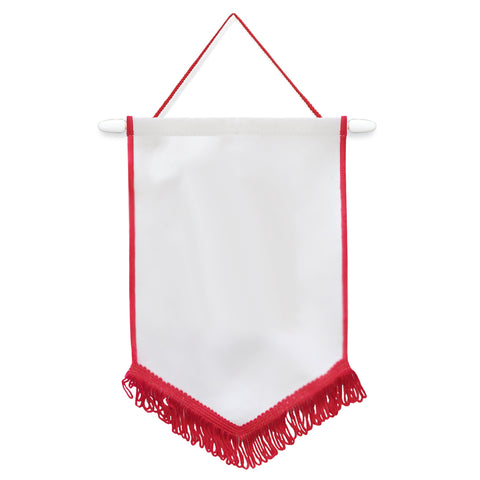 Flags & Banners - Pack of 10 x Pennant - 18cm x 26cm - RED