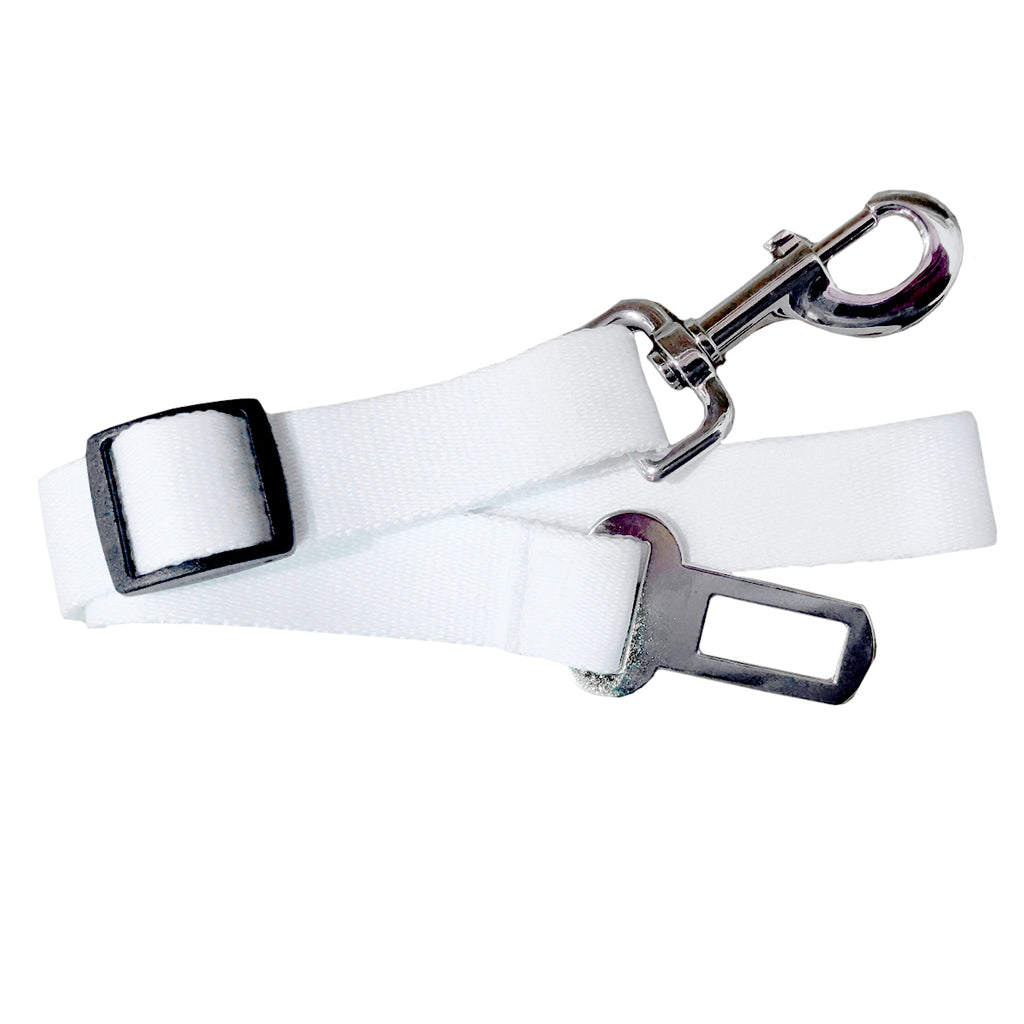 Pet Products - Safety Seatbelt for Pets - Plain White