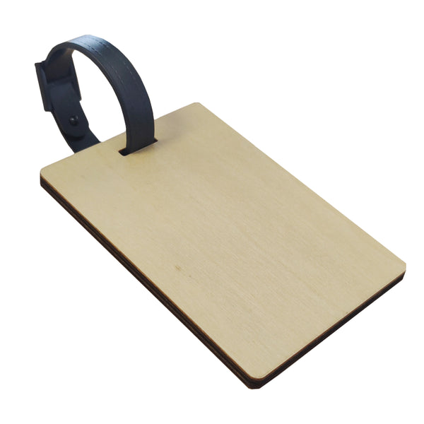 Luggage Tag - PLYWOOD - Rectangle - Double-Sided