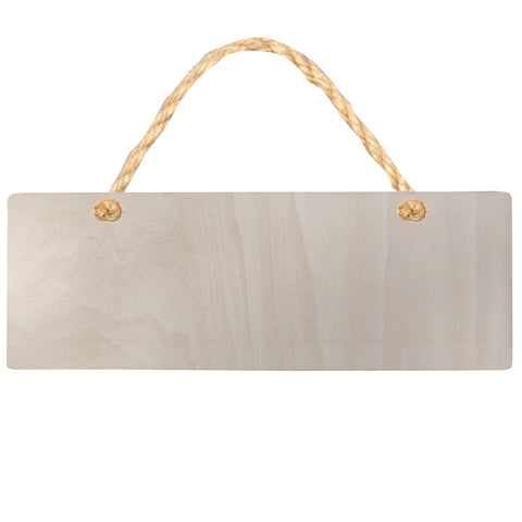 Hanging Sign - PLYWOOD - Double Sided Rectangle - 28cm x 10cm
