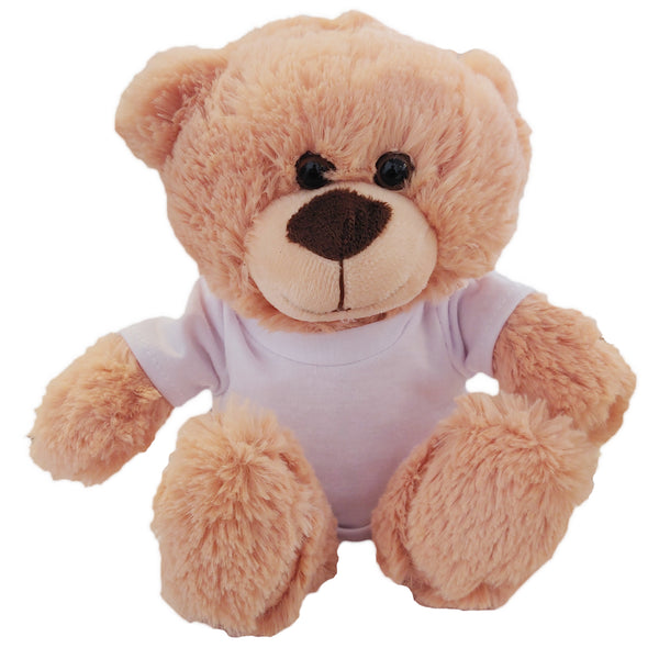 Soft Toys - Cream Teddy Bear with Printable T-Shirt