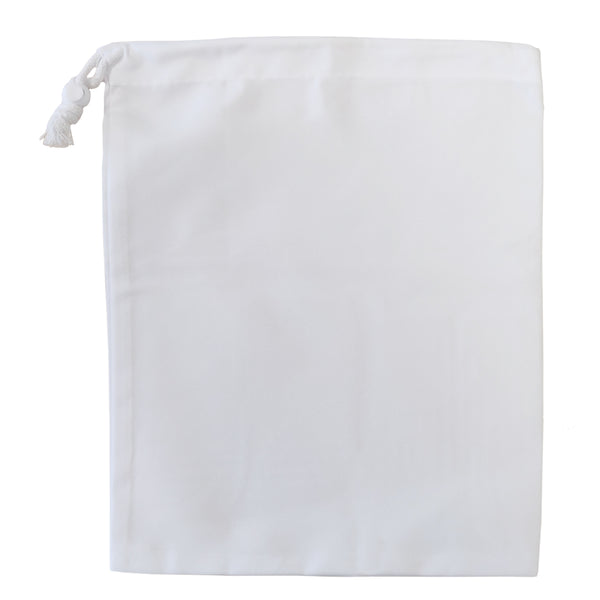 Premium Drawstring with Stopper - Canvas - White - 25cm x 30cm
