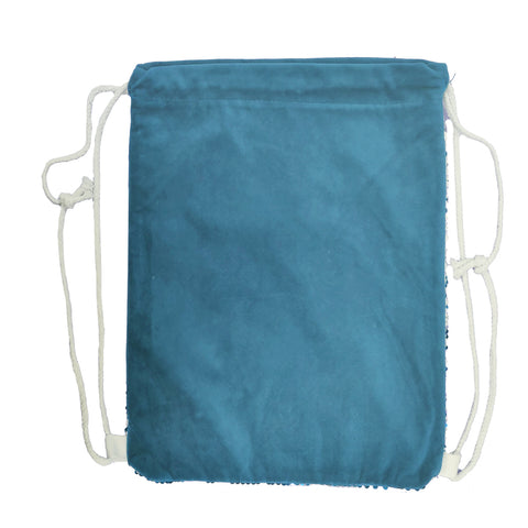 Sequin DRAWSTRING Bag - 38.5cm x 30cm - LIGHT BLUE