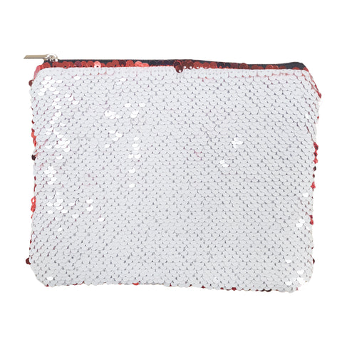 Sequin Purse/ Pouch - 15cm x 20cm - RED