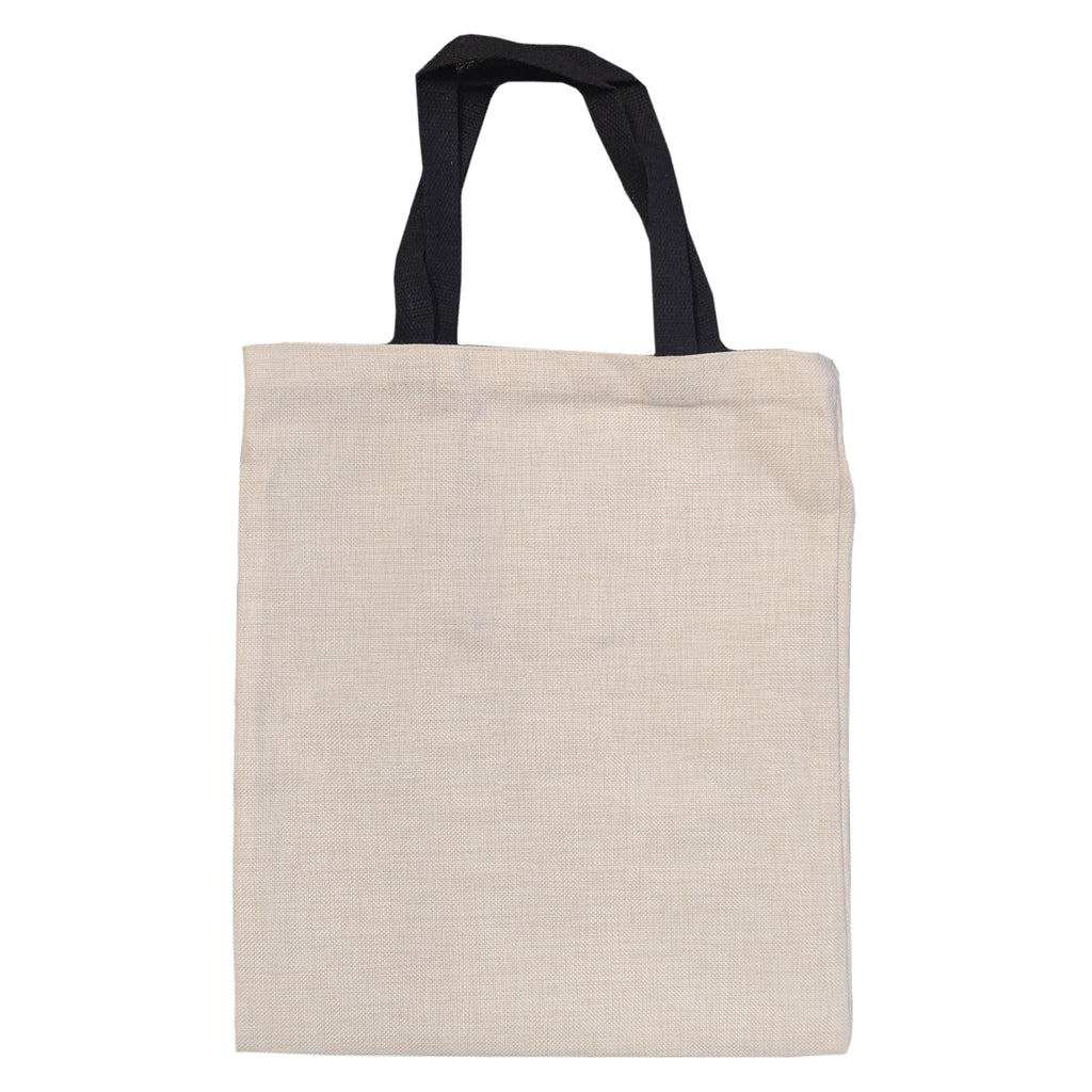 Bags - LINEN - Tote Bag with Short Black Handles - 37cm x 42cm
