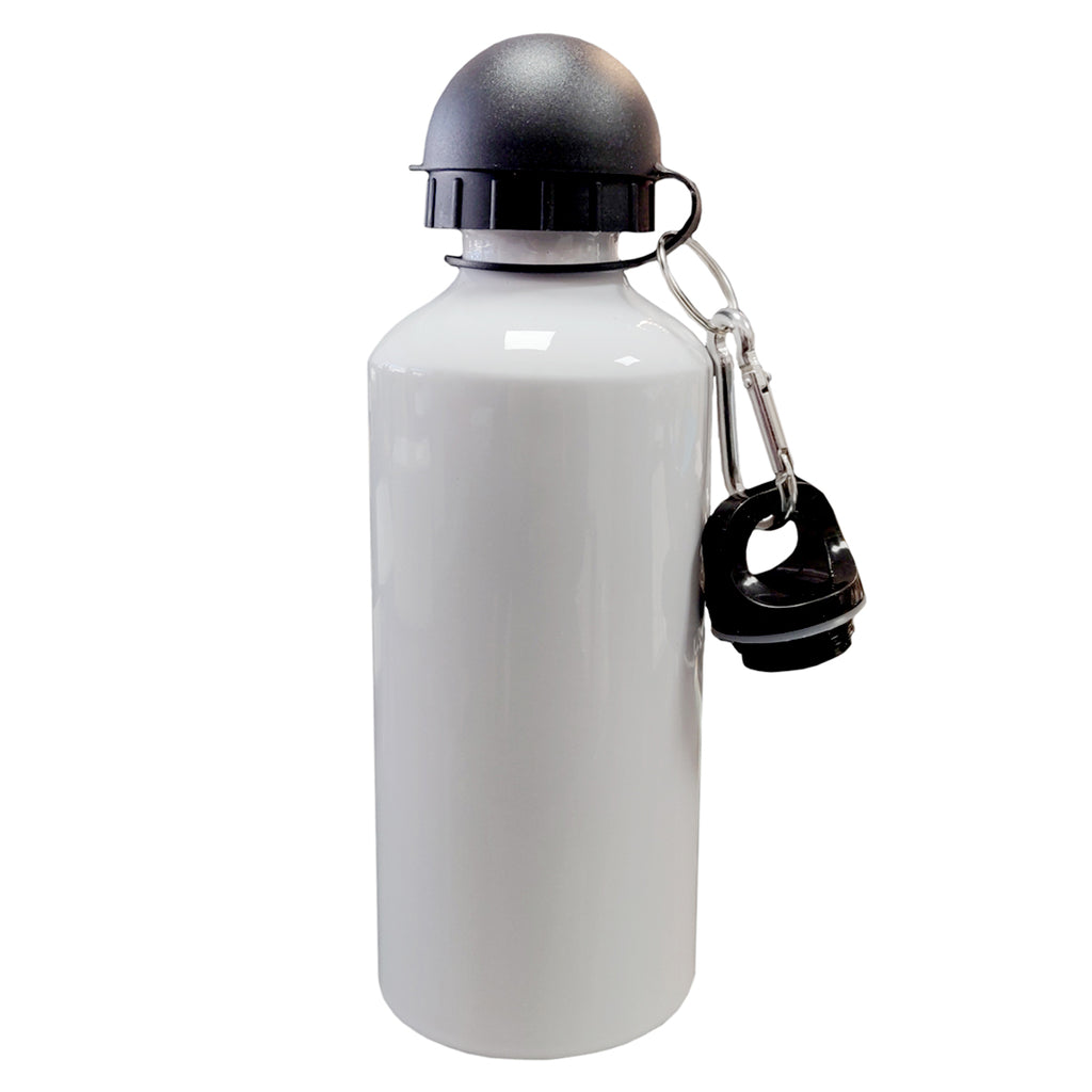 Water Bottles - COLOURED Two Lids (BLACK) - 600ml