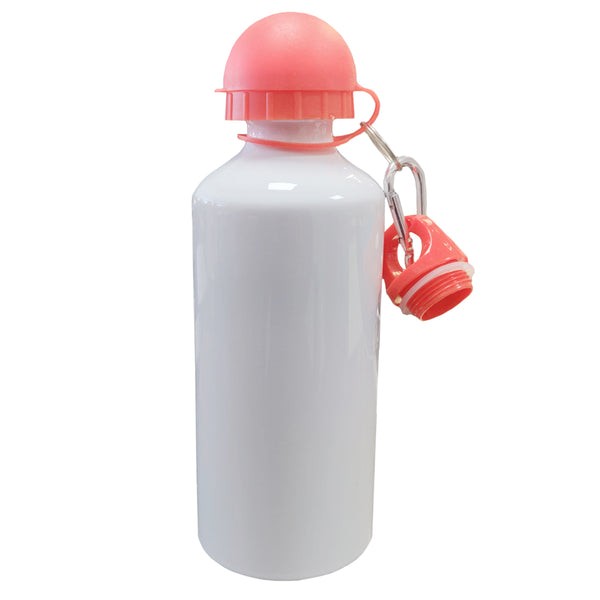 Water Bottles - COLOURED Two Lids (RED) - 600ml