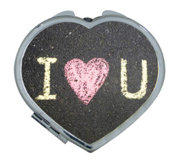 Pocket Compact Mirror - Heart Shaped