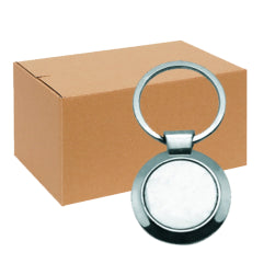 FULL CARTON - 240 x Round Blank Sublimation Metal Keyrings