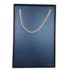 Black Slate - Engravable - Hanging Memo Board 20cm x 30cm in Giftbox