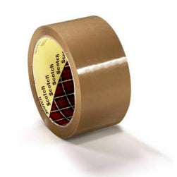 6 Rolls x 3M Brown Packing Box Sealing Tape 48mm x 66m