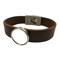 Jewellery - Bracelet - Leather Style Bracelet - Brown