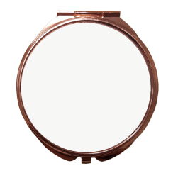 Pocket Compact Mirror - Deluxe Rose Gold - Large Round