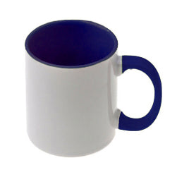 Mugs - 11oz - Inner and Handle Coloured - Dark Blue