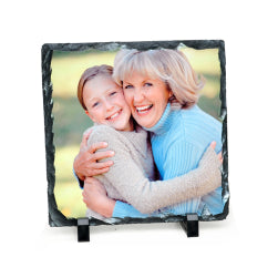 Photo Slate - Glossy Finish - 15cm x 15cm Square Rock Slate