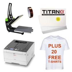 Silver T-Shirt and Garment Printing Package + 20 Free T-Shirts