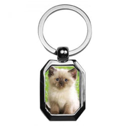Keyring - 10 x Sublimation Metal Keyring - Hexagonal