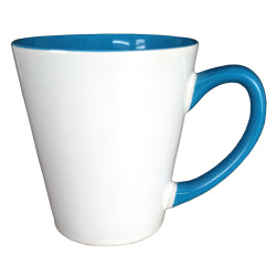 Mugs - Inner and Handle Coloured - 12oz Latte - Light Blue