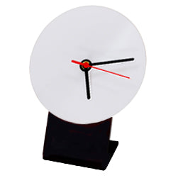 Clock - MDF - Round - 12.7cm Desk Clock with Stand