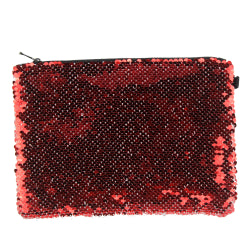 Sequins Hangbag/ Cosmetic Bag - Red Reversible - 15cm x 20cm