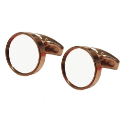 Cufflinks - Premier Range - Rose Gold - Round - Pair