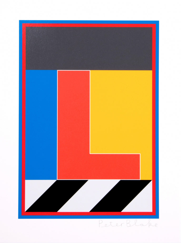 "Peter Blake ""The Dazzle Alphabet Letter L"""