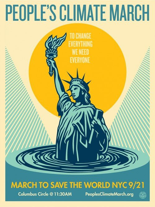 "Shepard Fairey ""Peoples Climate March"""