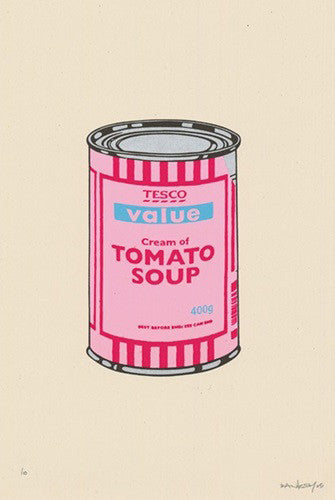 "Banksy ""Tesco Soup Can"" Signed"