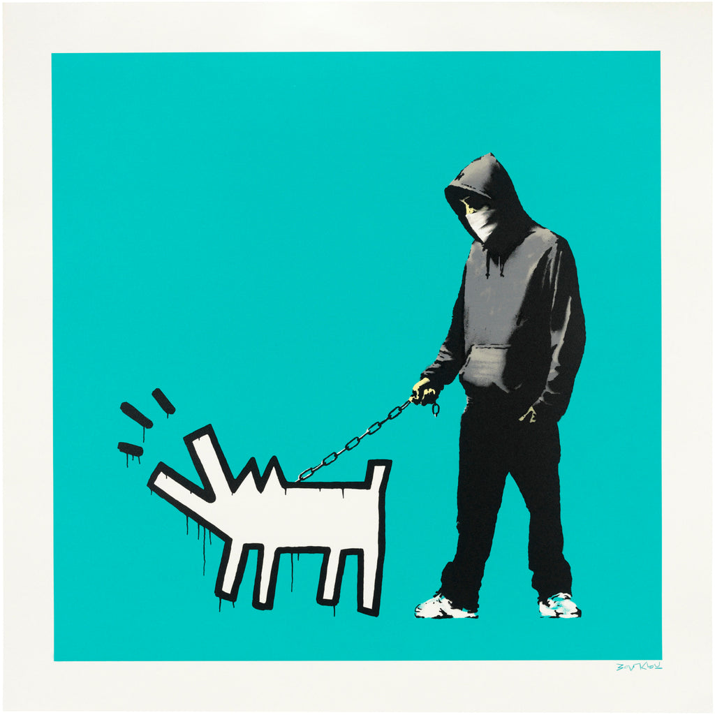 "Banksy ""Choose your weapon"" Turquoise"