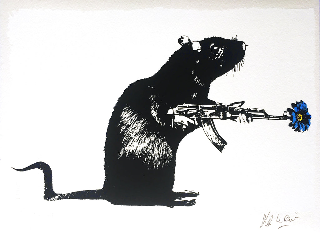 "Blek le Rat ""The Warrior"" Flower Print"