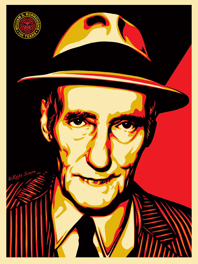 "Shepard Fairey ""William S Burroughs"""