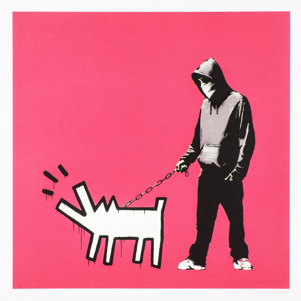 Banksy Choose Your Weapon (Bright Pink)