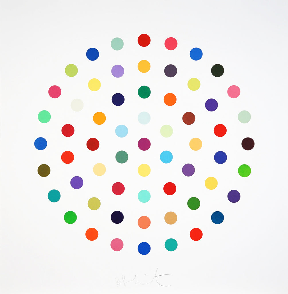 "Damien Hirst ""Cineole"" spot print etching"