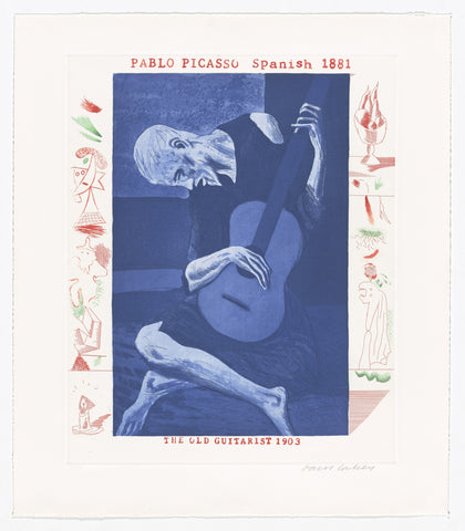 David Hockney The Old Guitarist from The Blue Guitar