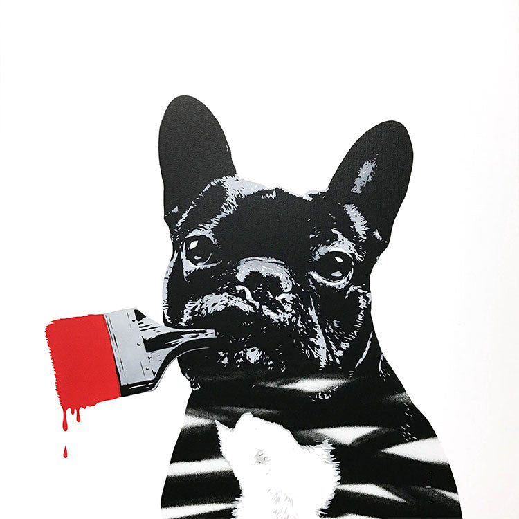 French Bulldog Banksy Street Art
