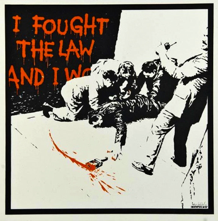 Banksy I fought the law Ronald Reagan