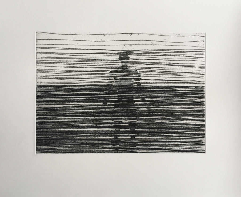 "Antony Gormley ""Another Place"" Etching"