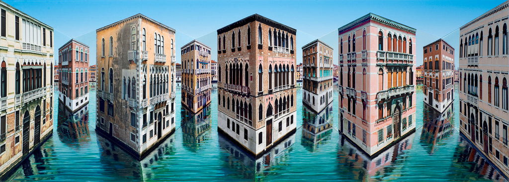 "Patrick Hughes ""In and Out"" Venetian 3D Multiple"