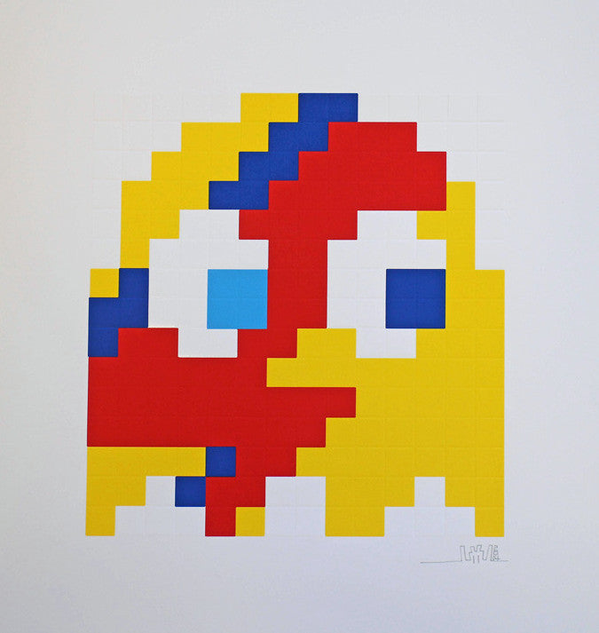 "Space Invader ""Aladdin Sane"" Yellow"